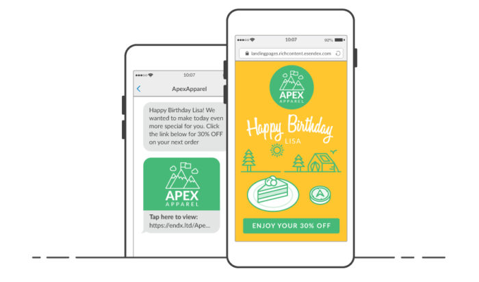 SMS Landing Page