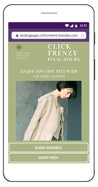 SMS Landing Page for Click Frenzy countdown