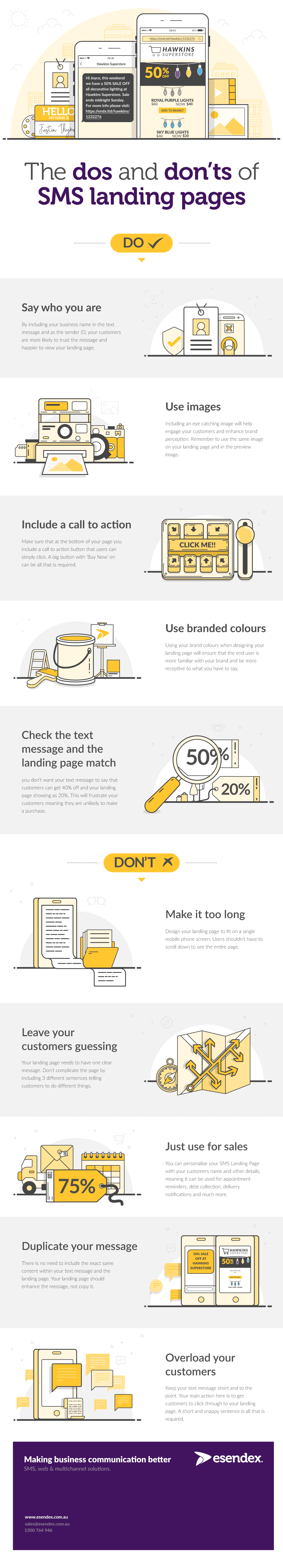 Dos and Don'ts of SMS Landing Pages