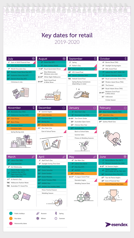 2019-2020 Retail calendar