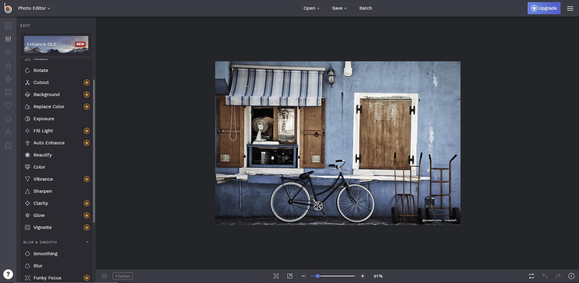 Free online photo editor - Befunky