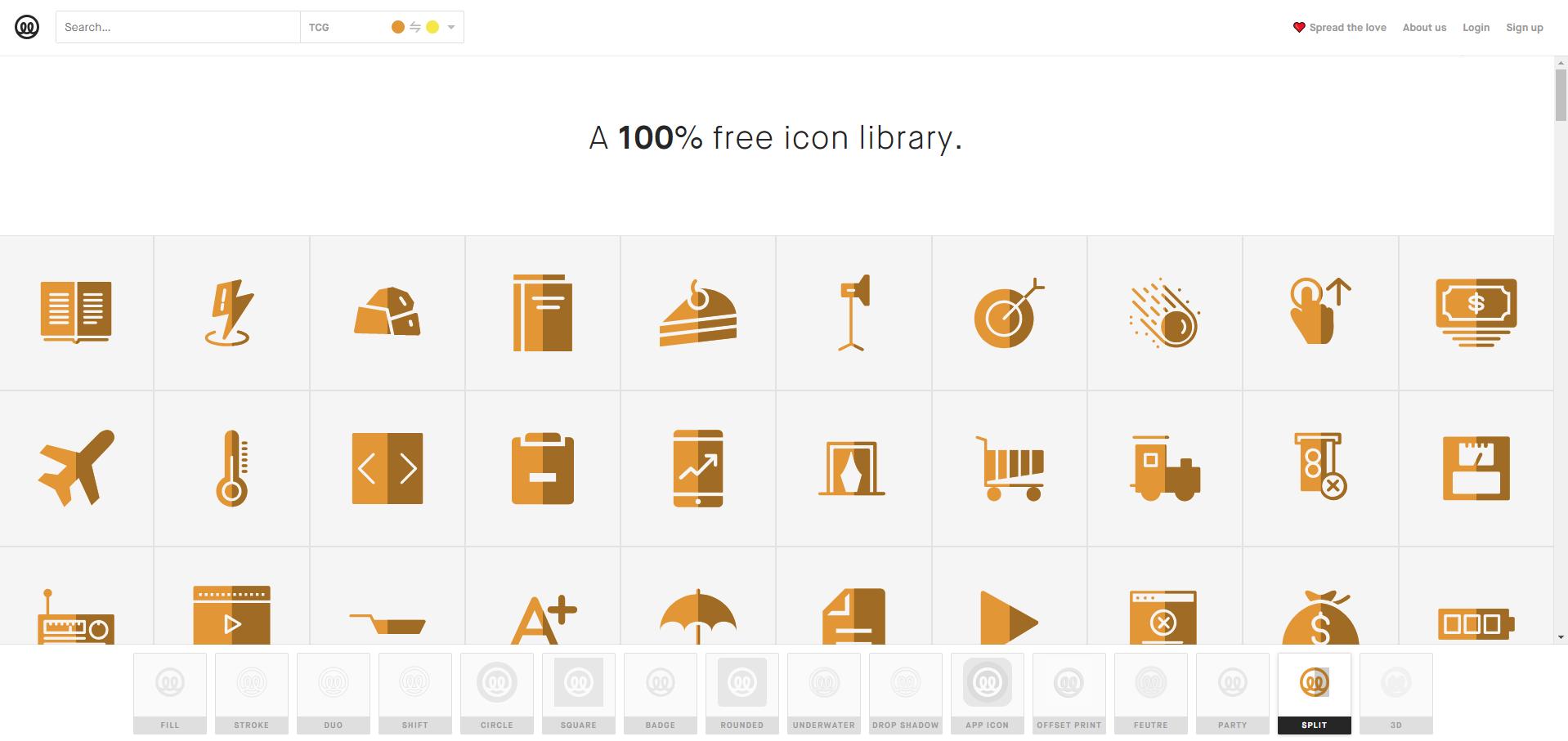 Free icon library - Illustrio