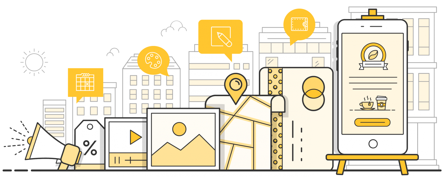 Illustration of different components of SMS Landing Pages