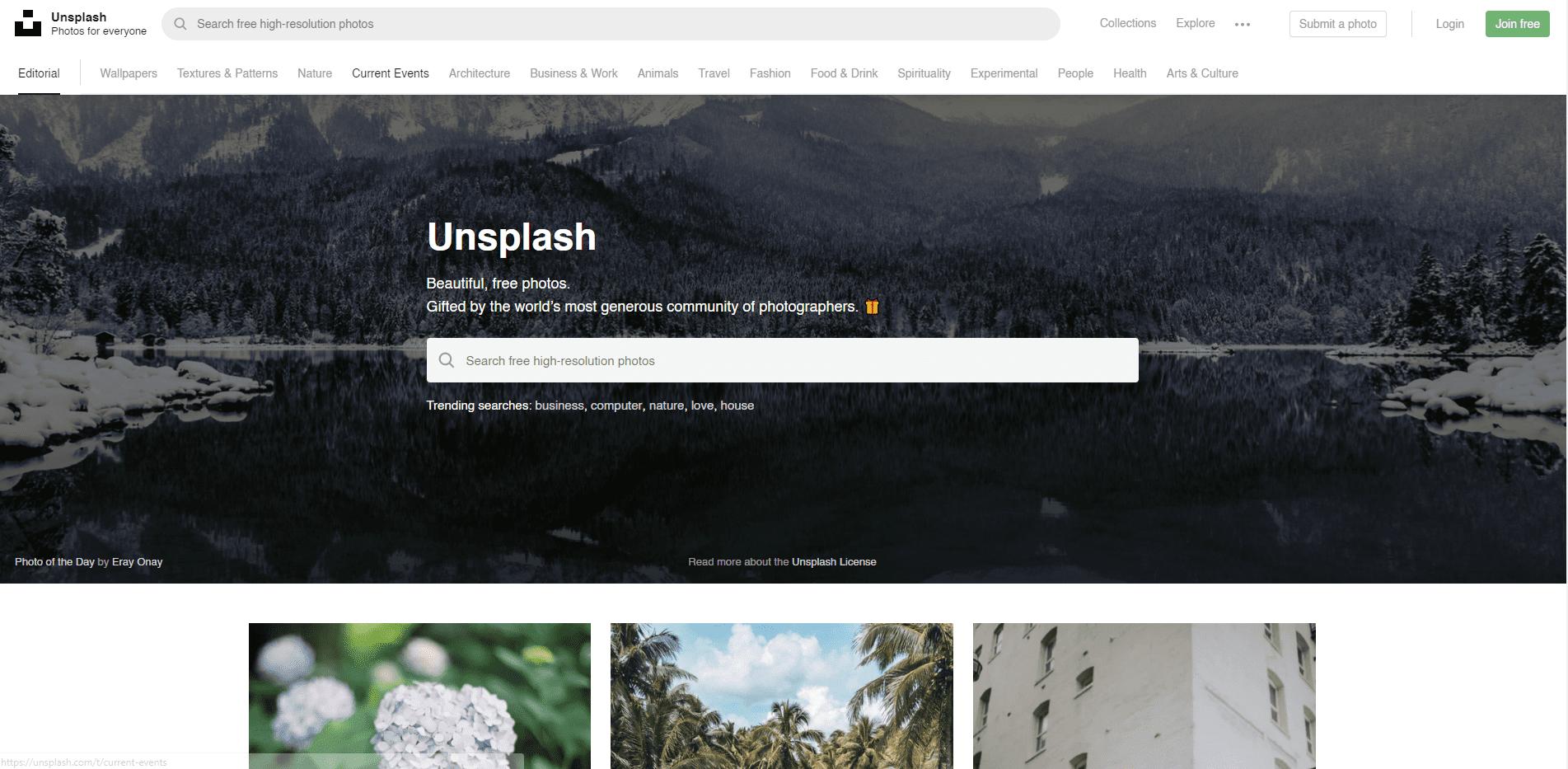Free stock photo library - Unsplash