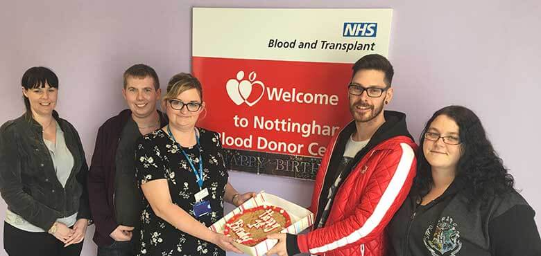 First birthday Blood Donor Centre Nottingham