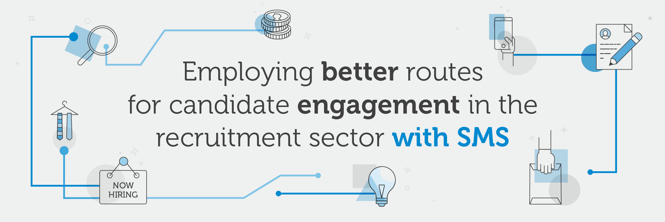 How SMS can help reach candidates for recruitment agencies infographic