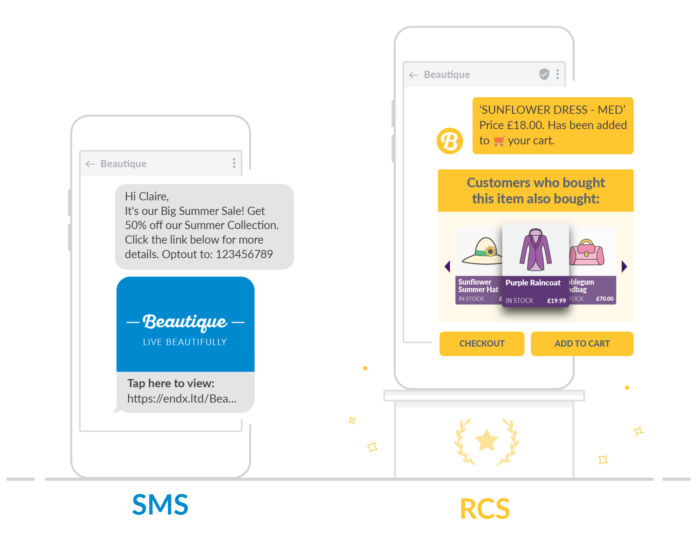 sms vs rcs examples