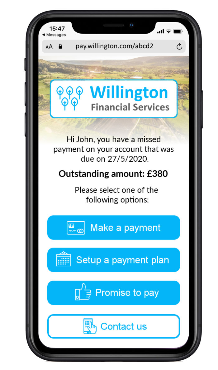 Illustrative example of a Mobile Collections strategy for a debt collection agency