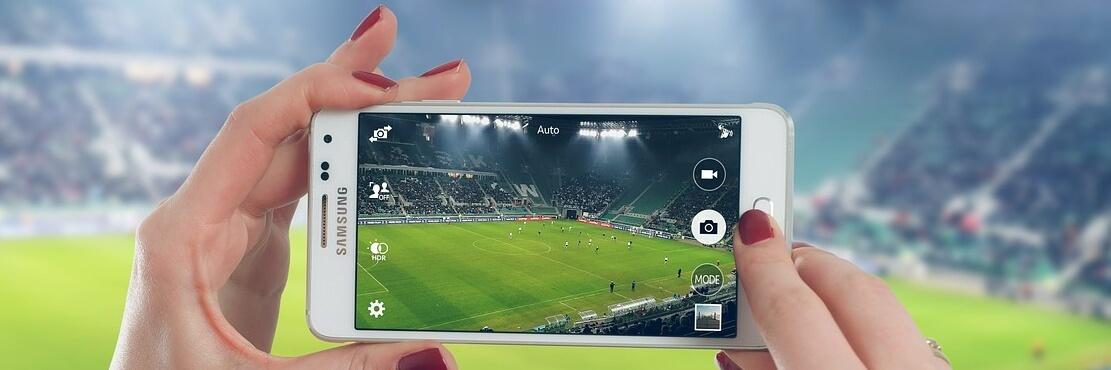 Football fan's mobile