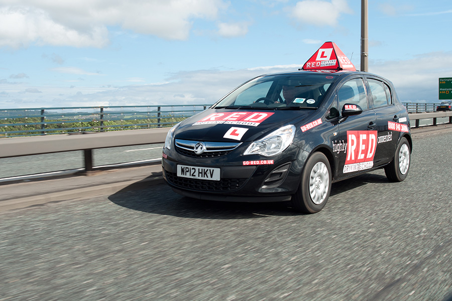 An image of one of RED Driving Schools driving instructors on the road
