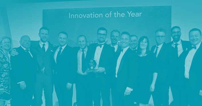 Image of the Esendex team winning an award