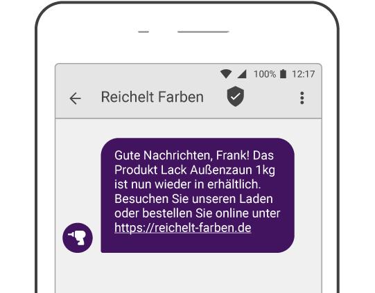 Beispiel SMS