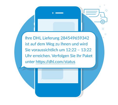 SMS Bestätigung Lieferung Esendex