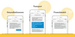 Smartphone SMS Beispiele Grafik