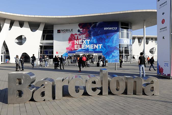 Eingang der Mobile World Congress Ausstellungshalle