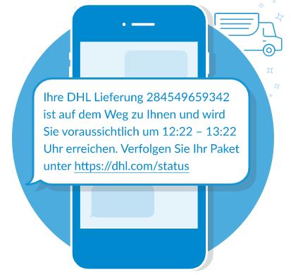 Lieferbenachrichtigung per SMS
