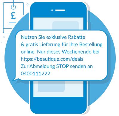 SMS Marketing Beispiel Esendex