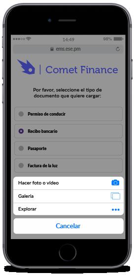 Ejemplo de recogida de archivos en Mobile Journey
