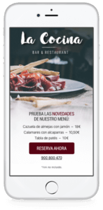 Mobile Journey - restaurante