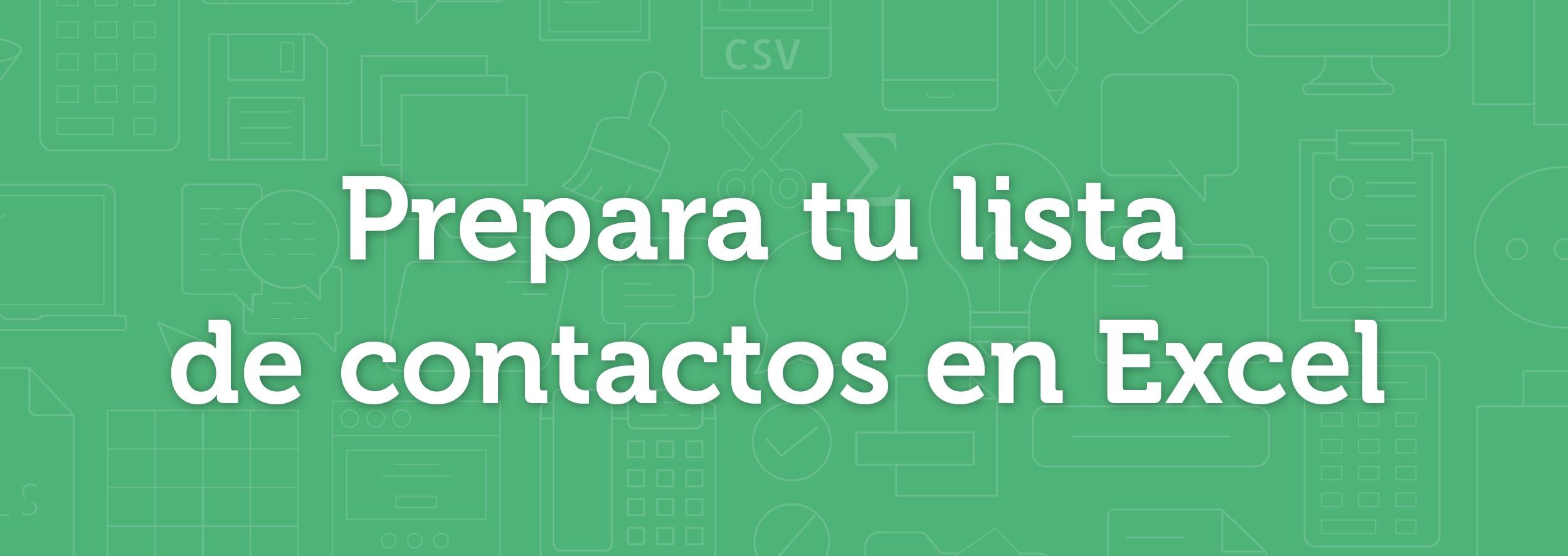 Esendex - prepara tu lista de contactos en Excel