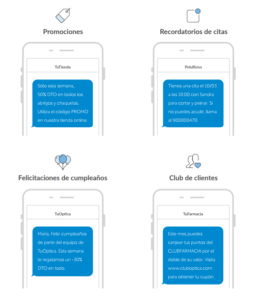 Ejemplos SMS Marketing Esendex