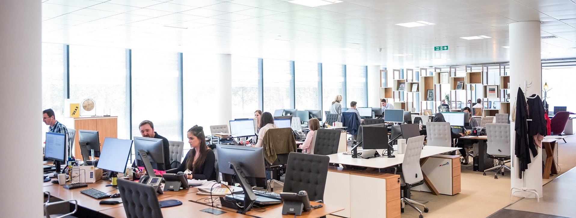Photo of workers in call centre