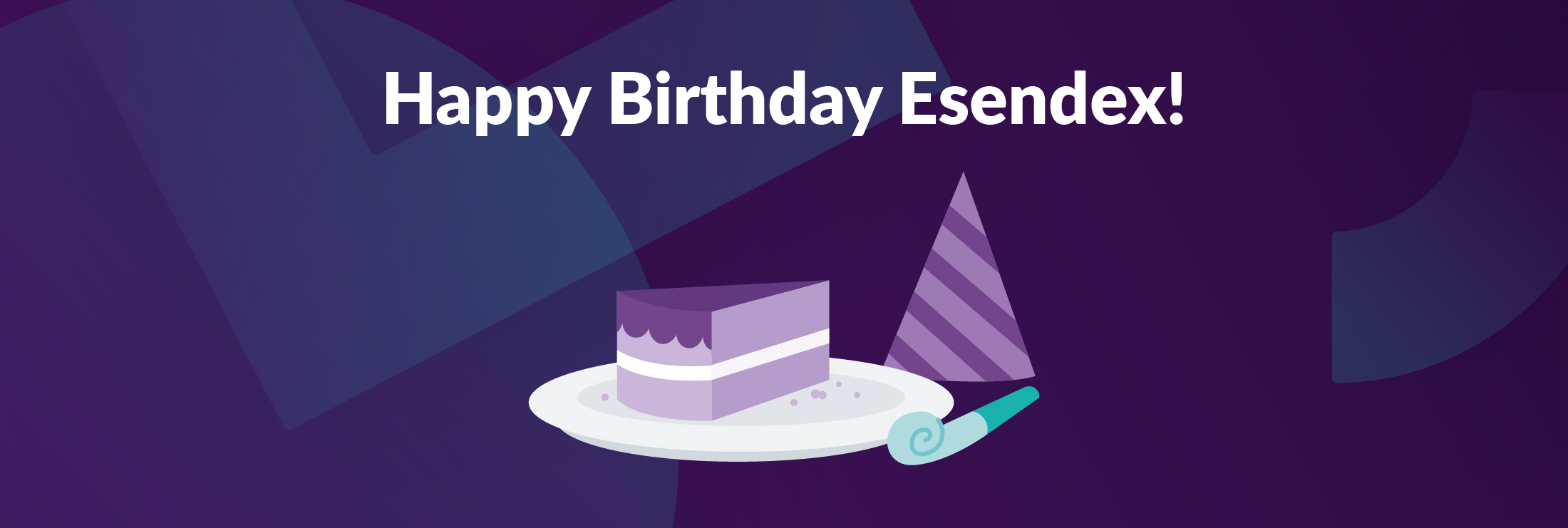 Happy birthday Esendex illustration