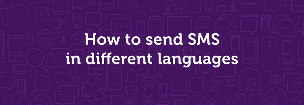 How to send SMS in different languages