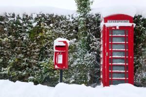 Angleterre sous la neige