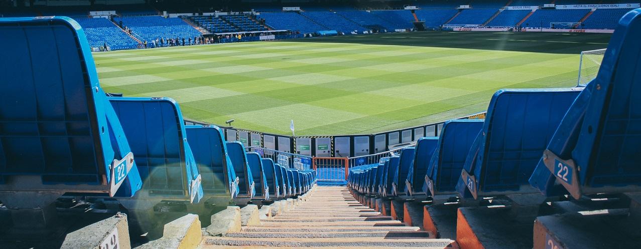 Photo of empty football stadium