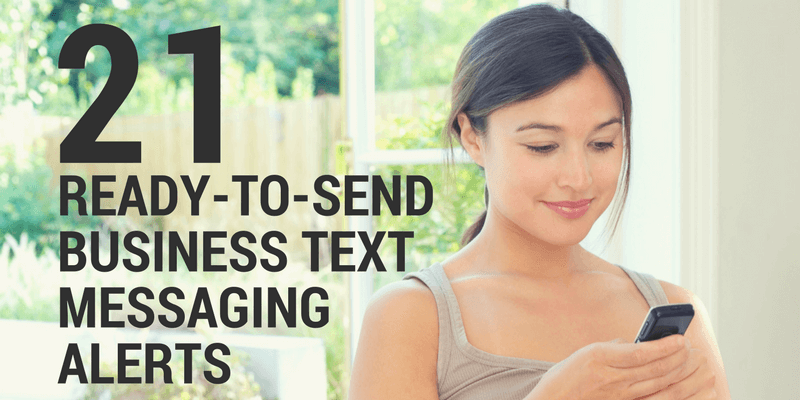business text messaging templates