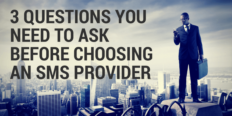 choosing an sms provider
