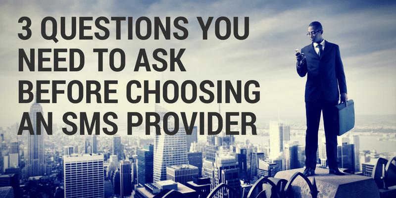 choosing an sms provider