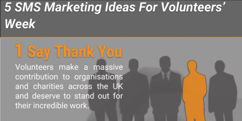 5 SMS Marketing Ideas For Volunteers Week - Infographic
