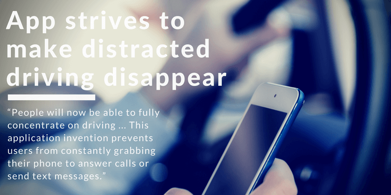 distracted driving app