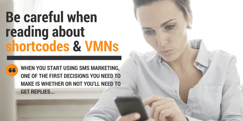 Be careful when reading about shortcodes and VMNs