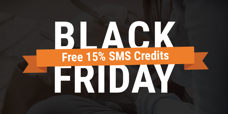 Black Friday 15% SMS sale
