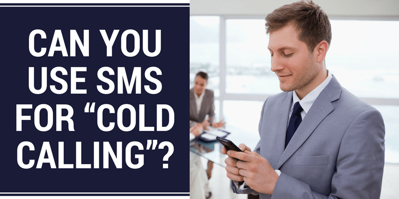 sms messaging for cold calling