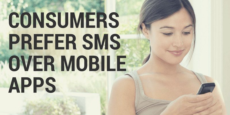 Consumers prefer SMS over mobile apps