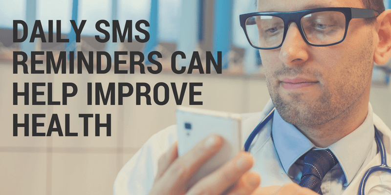 Daily SMS reminders can help improve health