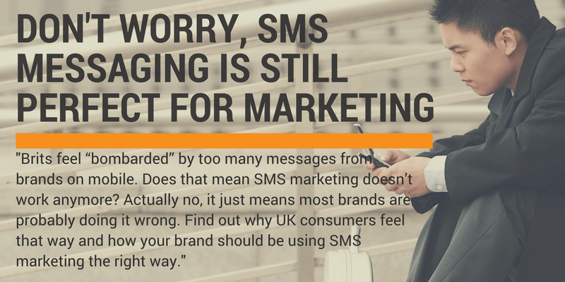 sms messaging still perfect for marketing
