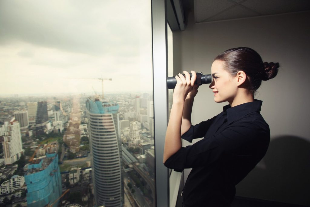 Binoculars searching