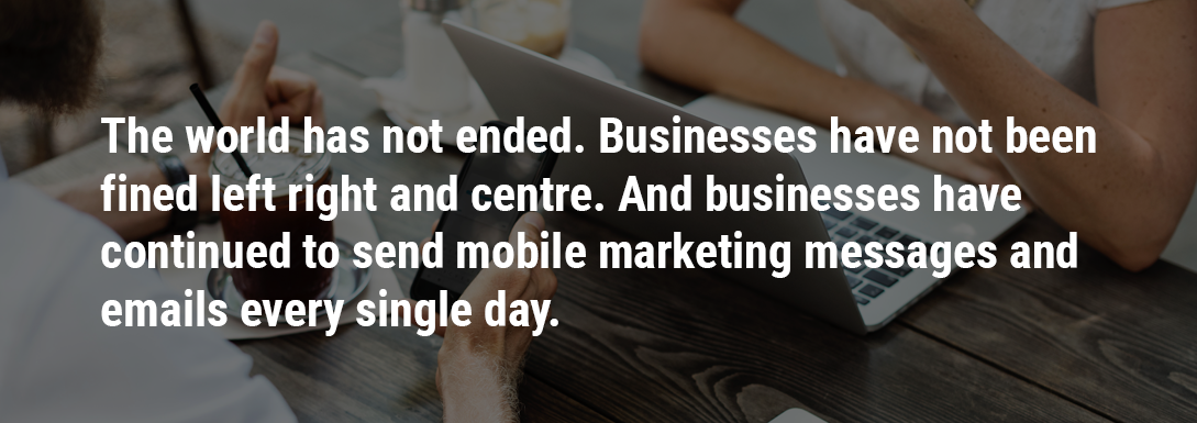 GDPR mobile marketing