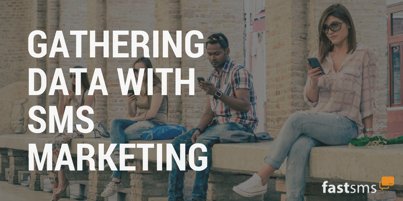 gathering data with sms marketing