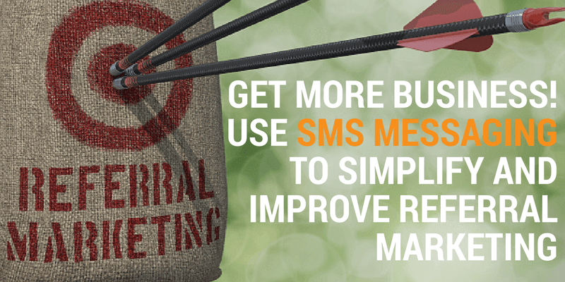 referral marketing via sms messaging