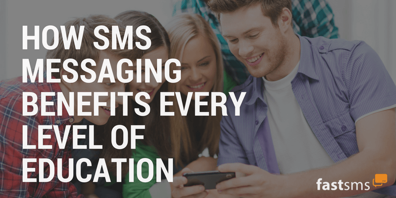SMS Messaging Benefits Every Level of Education