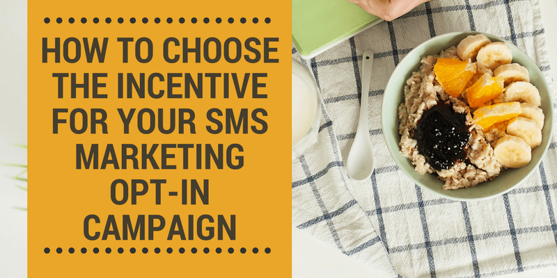 sms list signup incentive