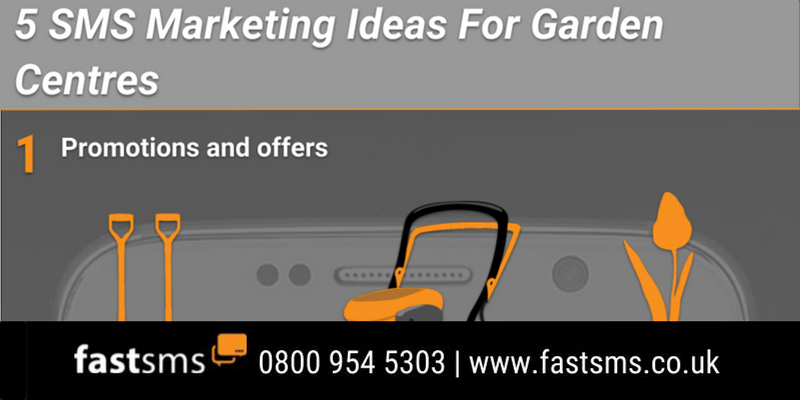 5 SMS Marketing Ideas For Garden Centres - Infographic | Fastsms