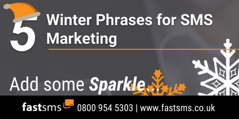 5 Winter Phrases for SMS Marketing - Infographic