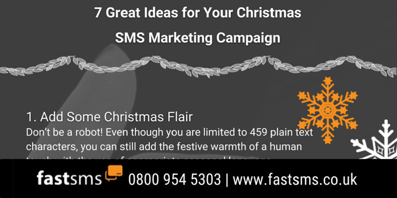 7 Christmas SMS Marketing Ideas - Infographic